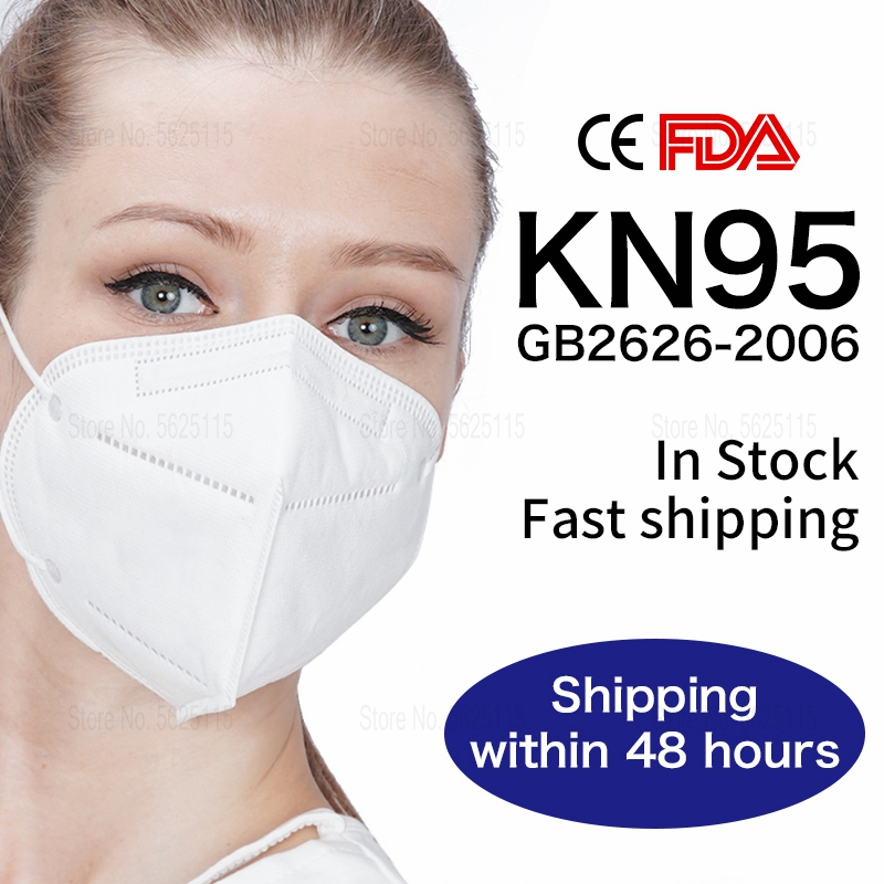 [in stocks]KN95 Masks Disposable KN95 Mask Protective Mask Safety Masks 95% Filtration for Dust Particulate Pollution N95