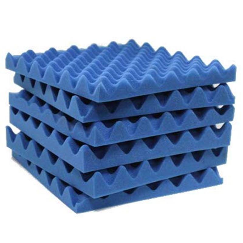 6 Pcs Soundproofing Foam Studio Acoustic Foam Soundproof Absorption Treatment Panel Tile Wedge Polyurethane Foam 30x30x3cm
