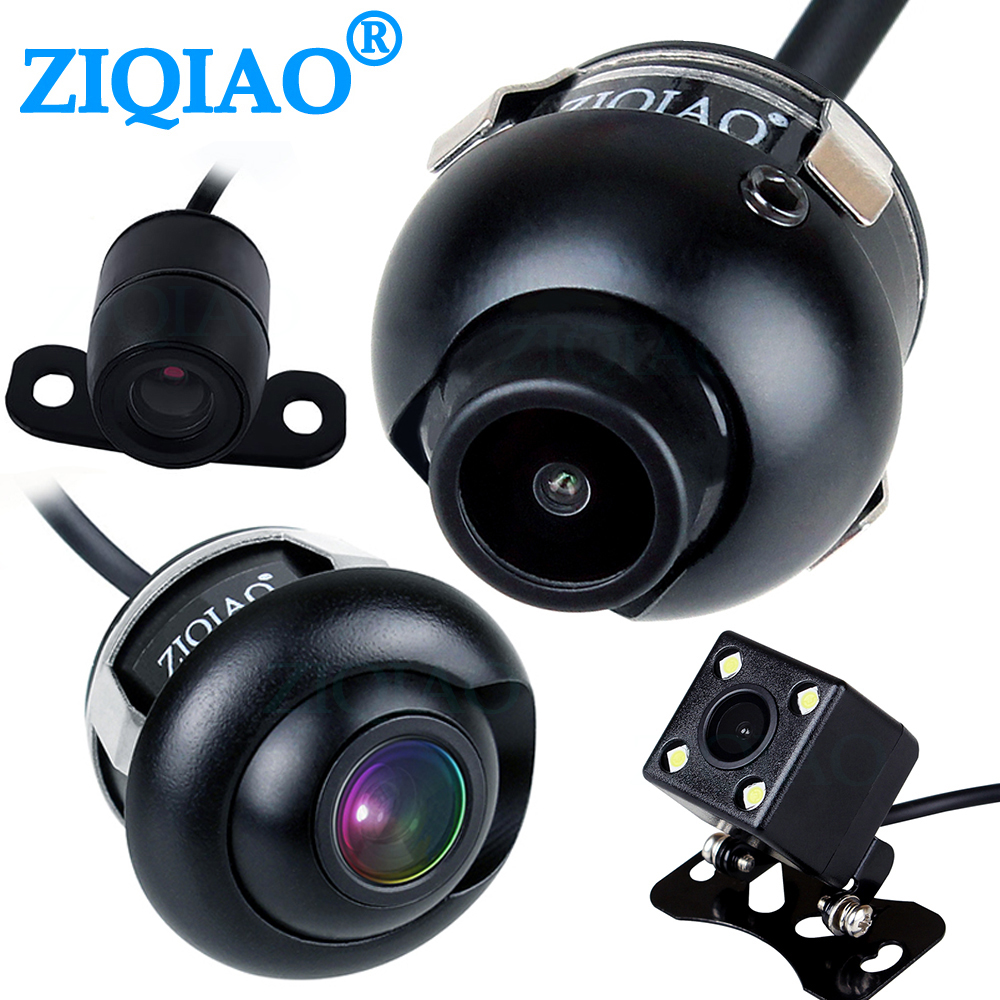 ZIQIAO Front View Side View Reverse Camera 360° Rotation HD Night Vision Waterproof Car CCD Rear View Parking Camera