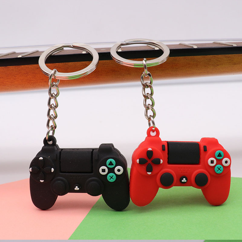 Creative Video Game Controller Keychain Students Schoolbag Pen Bag Stationery Pendant Gamepad Keychain Jewelry