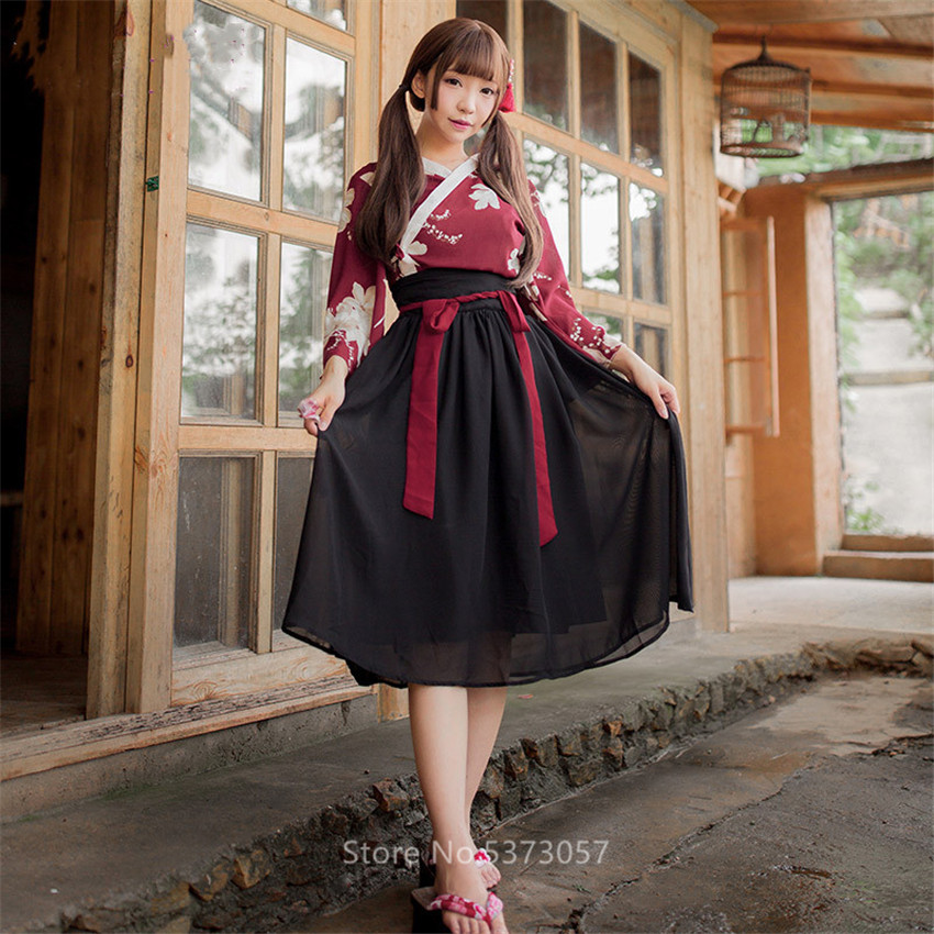 Oriental Hanfu Women Vintage Chinese Clothing Traditional Folk Dance Costume Fairy Print High Waist Sexy Dress Trumpet Sleeve