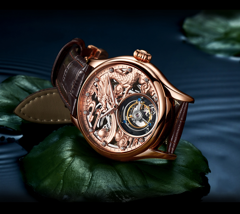New GUANQIN Original Tourbillon watch men top brand luxury waterproof skeleton Sapphire Mechanical Tourbillon relogio masculino 20
