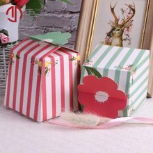 10pcs/lot 9*9*9cm Kawaii Pink Green Flowers Paper Bag Food Packing Bag Kraft paper Decoration Multifunction Gift Bags цены