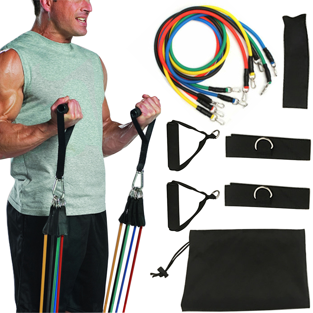11 In Kit Upgrade Resistance Bands Set Loop Bands Powerful Effective For Exercise Sports Fitness Home Gym Yoga