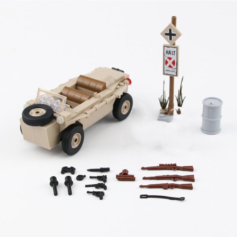 figuras blocos brinquedos typ 82 kubelwagen armas