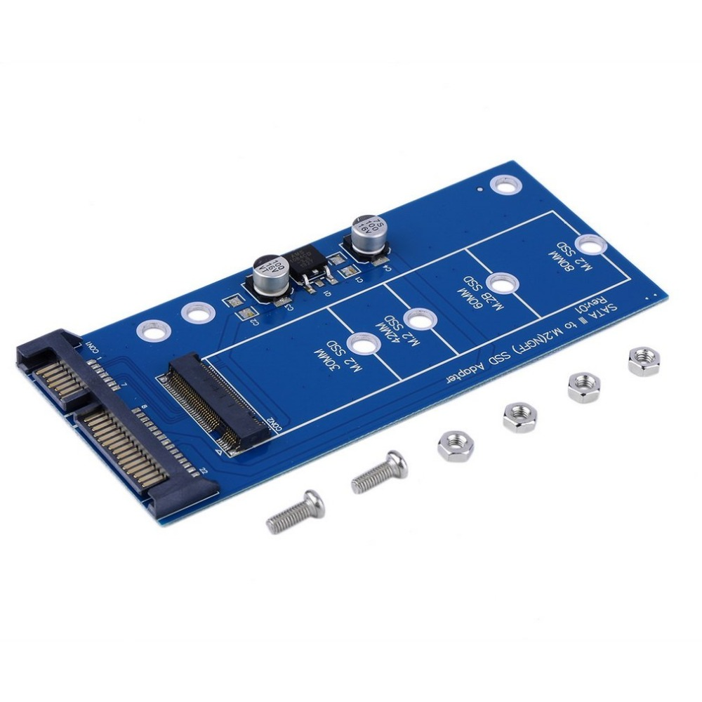 Adaptador de alta velocidad M2 NGFF ssd SATA3 SSDs Turn Sata tarjeta de expansión adaptador SATA a NGFF alta capacidad -poder