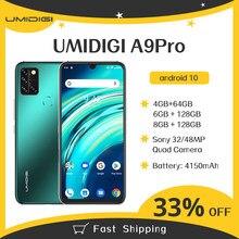 Umidigi a9 pro smartphone 4/6/8gb + 64/128gb quad câmera 24mp selfiecamera helio p60 octa core 6.3