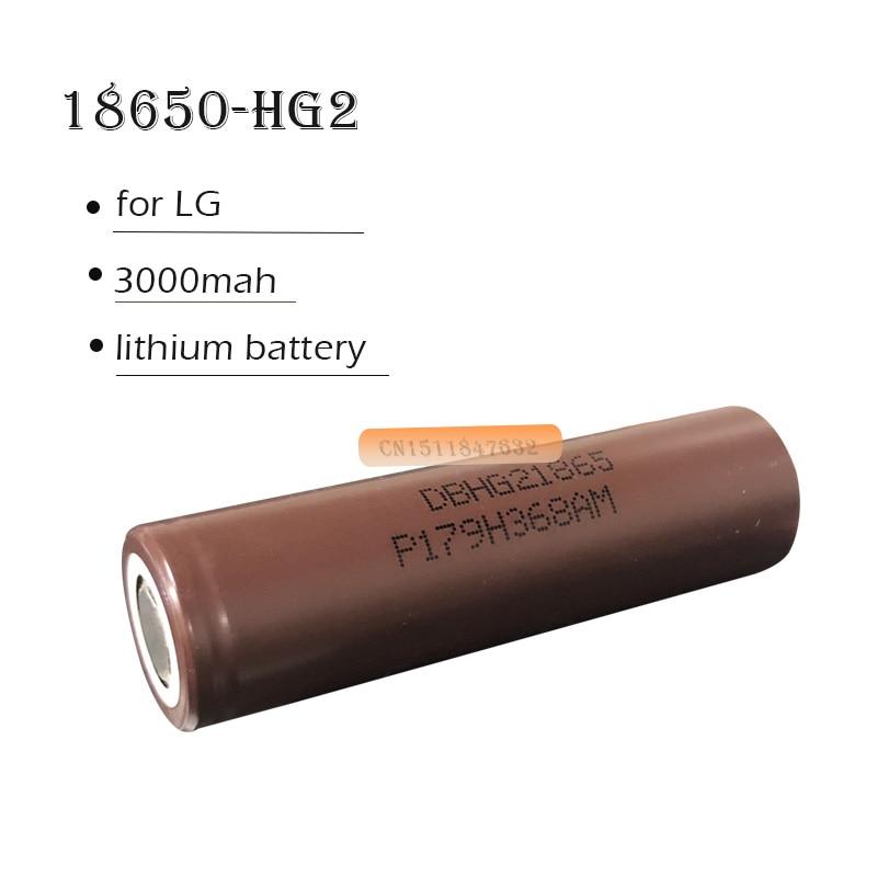 100% Оригинальный 3,6 в 3000 мАч 18650 аккумулятор, аккумуляторная батарея для LG HG2 18650 литиевая батарея, использует электронные сигареты