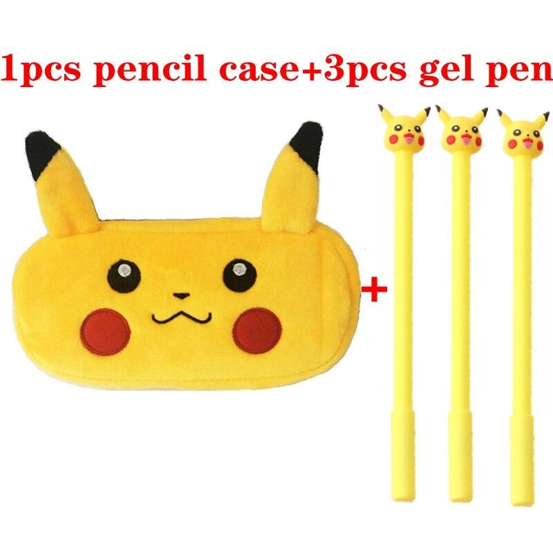 Pokemon Plush Pencil Case School Pencil Cases Bag Stationery Pencilcase Kawaii Pencil Box For Boys Girls Children Gifts