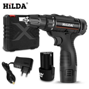 Шуруповерт HILDA DZ065 бюджетный аккумуляторный