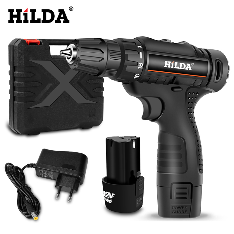 12V Electric Drill Lithium Battery Cordless Electric Screwdriver DC Double Speed Home Diy Mini Drill Power Tools
