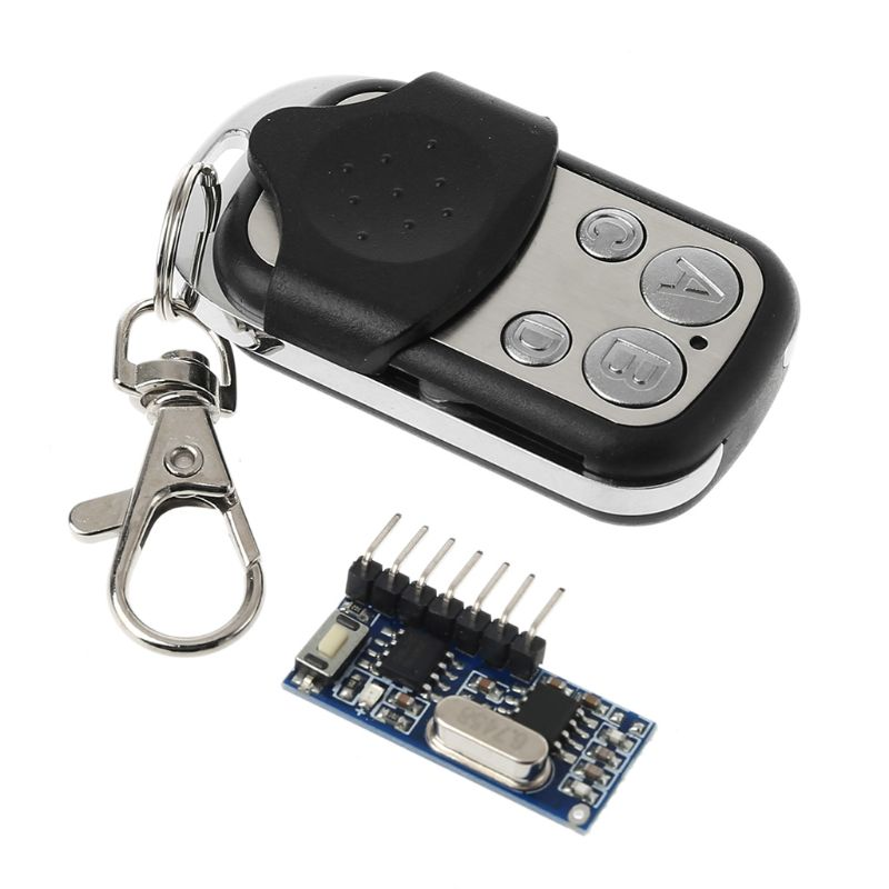 <font><b>Remote</b></font> Control Wireless Receiver Switch <font><b>Socket</b></font> Learning Code 1527 Decoding Module Button 433MHz 4CH Output LED Electric Door image