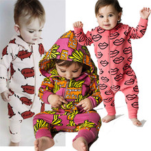 Baby Rompers Hooded Cotton Jumpsuit Toddler New Born Outfit Long-Sleeve Zipper Girl Boy