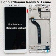 5.7 per Xiaomi Redmi 5 SCHERMO LCD display + Touch panel Digitizer Con frame per Xiaomi redmi 5 LCD originale VERSIONE Globale