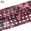 AngQi Jewelry 15'' Natural Irregular Stone Beads Color Tourmaline Loose Spacer Beads For Jewelry Making DIY Bracelet Necklace