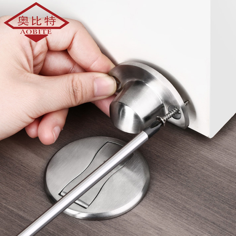 AOBT Magnet Door Stops Magnetic Door Stopper Non-punch Six Colors Available Door Holder Hidden Doorstop Furniture Door Hardware 4