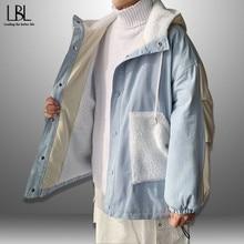 Coats Clothing Parka-Jacket Spring Warm Fleece Men Man Men's Fashion Blue New Autumn