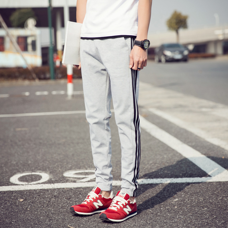Perennial Do Men Spring And Autumn Korean-style Slim Fit Stripes Athletic Pants Fashion Sportsman Large Size Casual Trousers Fas