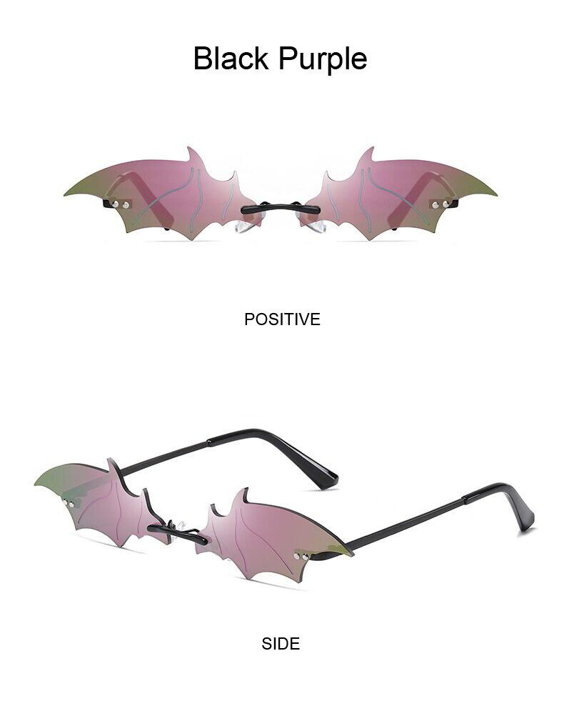 Hd6aae097256748e5b63659b3714be6133 Moda sem aro homem óculos de sol mulher na moda em forma de morcego óculos de sol feminino masculino vintage preto espelho tons metal oculos de sol
