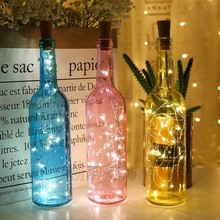 1m 2m Led Garland Copper Wire Corker String Fairy Lights For Glass Craft Bottle New Year Christmas Valentines Wedding Decoration
