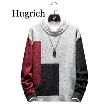 Autumn Hot 2020 Fashion Casual Streetwear Sweater Men O-Neck Patchwork Knitted Men/Women Christmas Sweaters Pullover Clothes