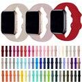 Ремешок силиконовый для Apple Watch Band 6 5 SE 4 3 2 1 38 мм 42 мм, браслет для iWatch Band 44 мм 40 мм, аксессуары для часов