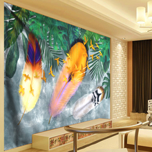 Boho Feather Tapestry Tropical Plant Wall Hanging Large Psychedelic Living Room Cloth Multi-function Tapestries