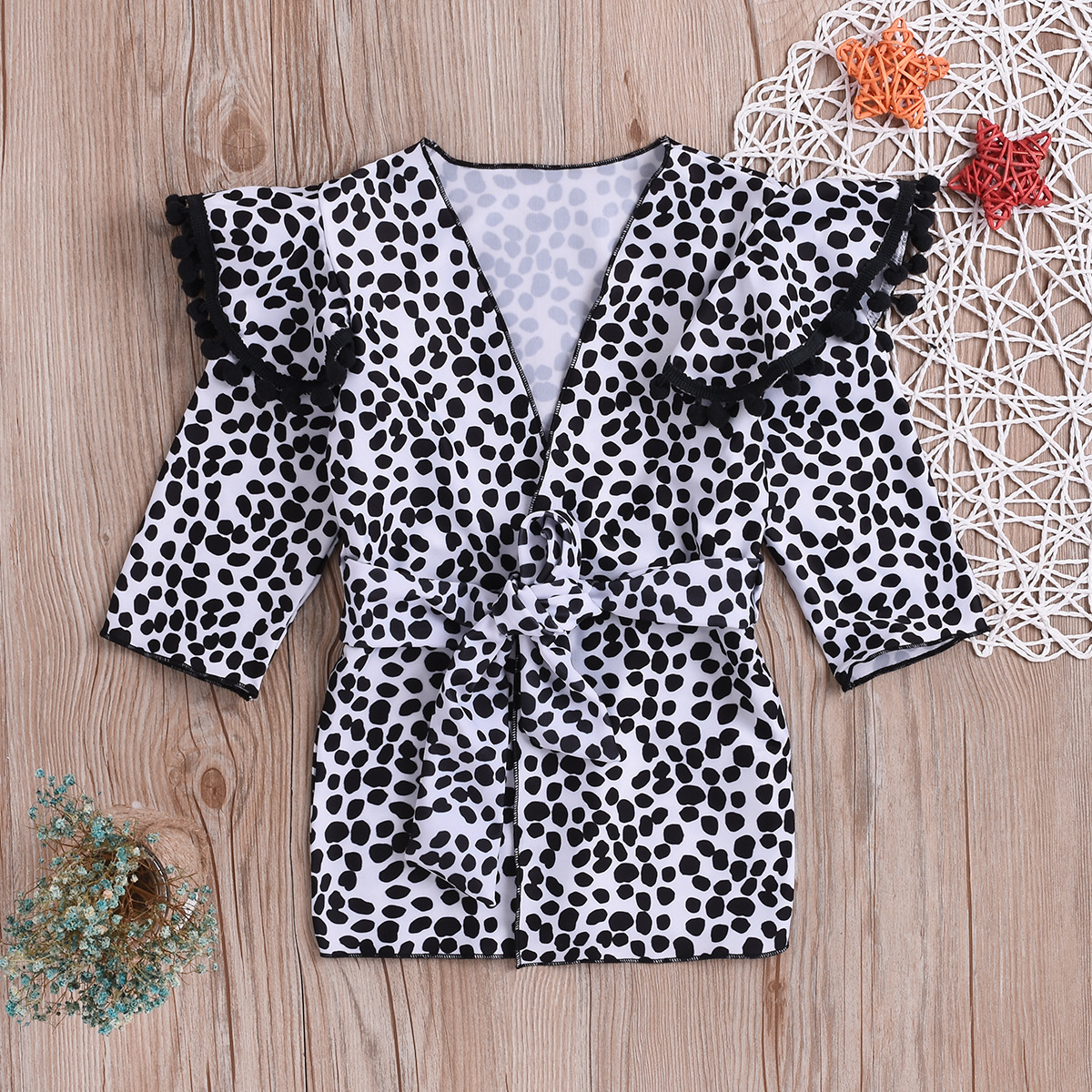 New Style Beach Sun-resistant Service Bikini Cover-up Leopord Pattern Sun-resistant Cardigan Beach Cover-up Shawl GIRL'S Swimsui