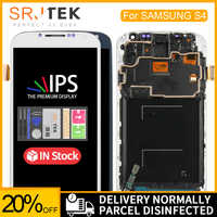 5.0 lcd lcd lcd para samsung galaxy s4 display lcd com quadro GT-i9505 i9500 i9505 i9506 i9515 i337 digitador da tela de toque