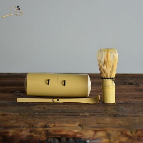 Travel Mini Bamboo Matcha Utensil Set - Japan Chasen Set And Scoop Matcha Whisk