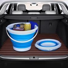 سيارة للطي دلو متعددة الوظائف تخزين المياه دلو صندوق تخزين تلسكوبي غسيل السيارات في الهواء الطلق دلو صيد
