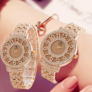 Image 5 - SUNKTA New Arrivals Women Watches Stainless Steel Exquisite Watch Women Rhinestone Luxury Casual Quartz Watch Relojes Mujer