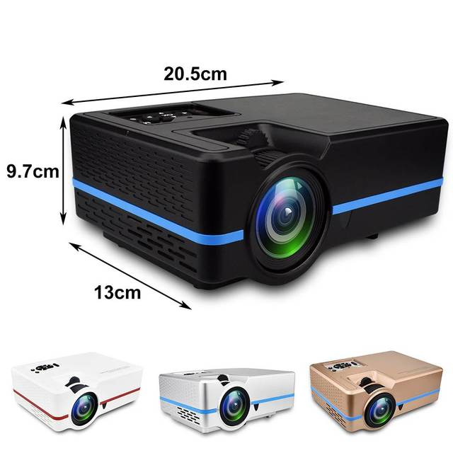 Mini LED Full HD Projector LCD 2200 lumens Zoom Colorful Portable Home Theater Cinema Support 4K Android HDMI/USB/VGA