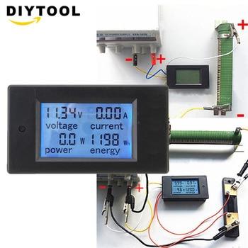Digital DC Voltage Meters 100V/20A Power Energy analog Voltmeter Ammeter watt current Amps Volt meter dc lcd meter 100v 100a digital voltage current meter ammeter voltmeter l2ko