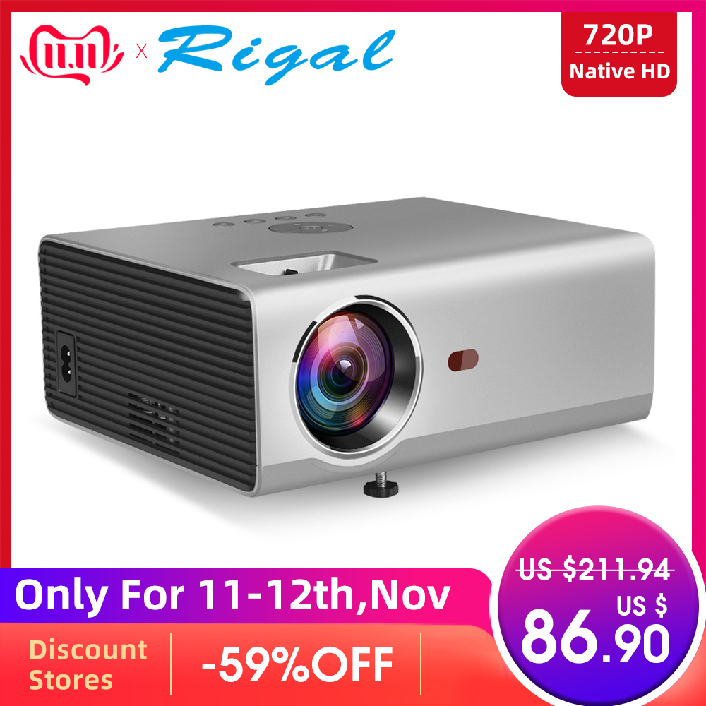 Rigal RD825 Mini Projector Native 1280 x 720P LED WiFi 3D Projector Android 6.0 Beamer Support HD 1080P Portable TV Home Theater-in LCD Projectors from Consumer Electronics