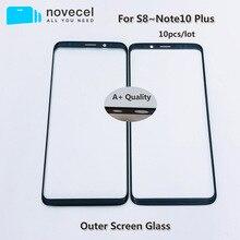 10 قطعة AAA + جودة الخارجية الجبهة الزجاج لسامسونج S8 S8 + S9 S9 + G950 G955 LCD تعمل باللمس زجاج الشاشة استبدال