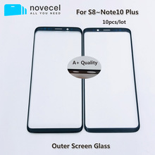 10Pcs A+ Quality External Front Glass For Samsung Edge S8 S8+ S9 S9+ S10 S10+ Note8 9 10Plus LCD Touch Screen Glass Replacement