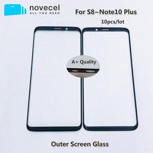 Image 1 - 10pcs AAA + איכות קדמי חיצוני זכוכית עבור Samsung S8 S8 + S9 S9 + G950 G955 LCD מגע מסך זכוכית החלפה