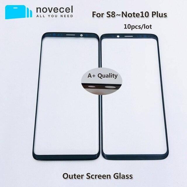 10pcs AAA + איכות קדמי חיצוני זכוכית עבור Samsung S8 S8 + S9 S9 + G950 G955 LCD מגע מסך זכוכית החלפה