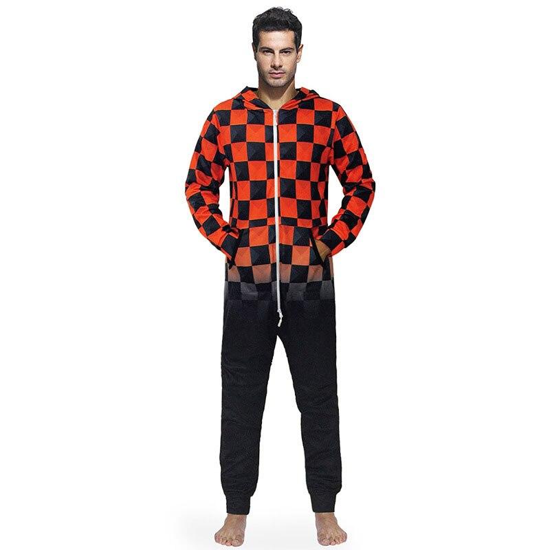 Осень и зима новый стиль забавный черный и красный сетки печатных с капюшоном пижамы свободные модные с длинным рукавом