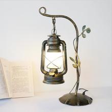 Lámpara de mesa china, lámpara de caballo vintage, lámpara de aceite antigua, lámpara de cama de dormitorio, lámpara de queroseno, lámpara de mesa retro de estudio americano, decoración