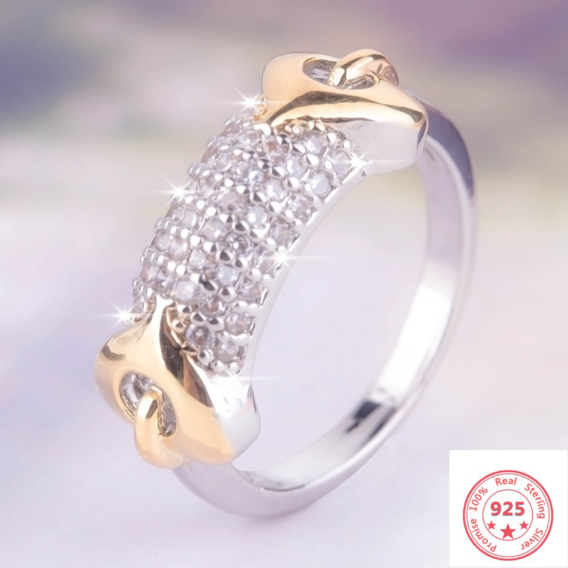925 Sliver White Diamond Ring For Women Anillos Gemstone Silver 925 Jewelry Engagement Bizuteria Dainty Cirle Ring Jewelry Box