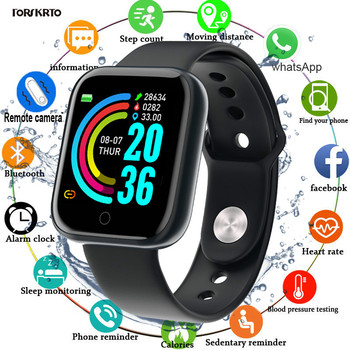 Bluetooth D20 Smart Watch Men Sport Smartwatch Heart Rate Monitor Blood Pressure Tracker Fitness Bracelet For IOS Android Y68 dtno 1 s9 nfc smartwatch heart rate monitor bluetooth smart watch for ios android bracelet heart rate monitor activity tracker