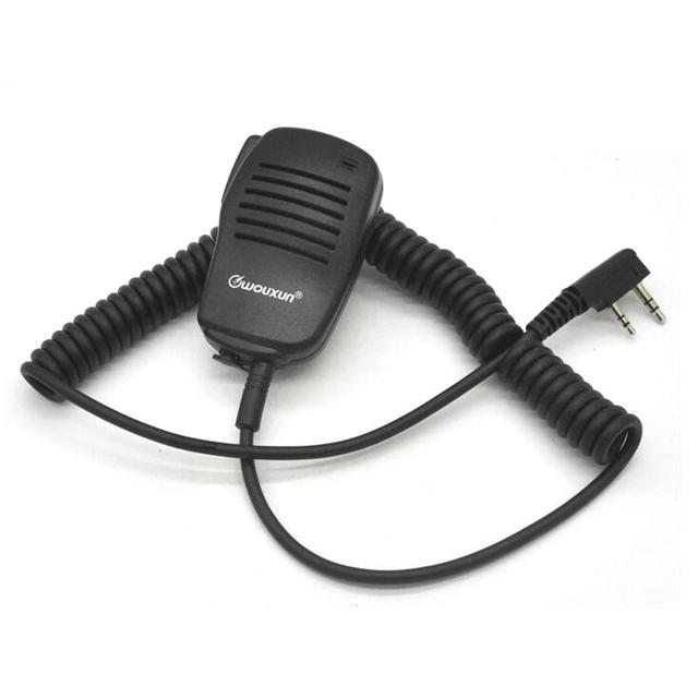WOUXUN Original Microphone WOUXUN K1 Wired stereo PTT Speaker Microfono for KG UV9D plus KG UV6D KG UVD1P KG D900 Portable Radio