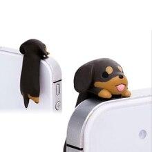 New 2020 kawaii Dachshund Dog Dust Plug 3.5mm Cellphone Plug Dog Plugy Earphone Jack Plug Headset Stopper Cap
