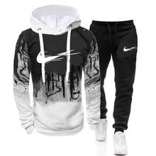 2021 New Autumn and Winter Men's Suit Hoodie + Pants Harajuku Sports Suit Casual Sports Shirt Track Suit Brand Sportswear