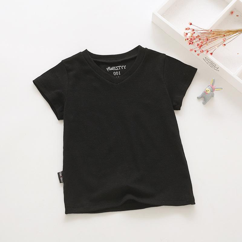 1 Country Childrenswear Summer 2018 New Products BOY'S Clothes With Short Sleeves V-neck T-shirt Pure Cotton Base Shirt Children