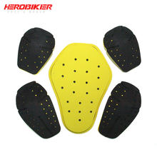 HEROBIKER Knee Protector Moto Insert Armors Protective Gear EVA Motocross Shoulders Elbows Back Protective Gear Moto Protection