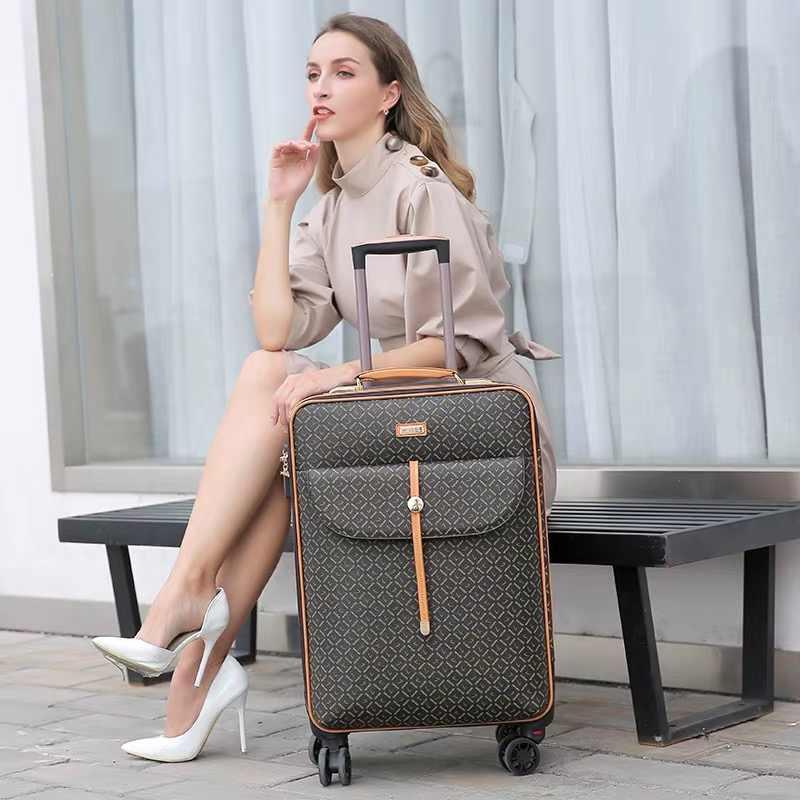 International fashion luxury 16/20/24 inch handbag+ Rolling Luggage Spinner brand Woman travel Suitcase