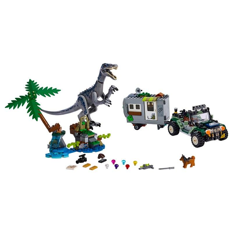 New Jurassic World Baryonyx Face-Off The Treasure Hunt Dinosaurs Legoinglys Building Block Bricks Toys For Children With 75935